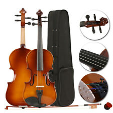 New Practice Beginner 1/8 Size Acoustic Violin W/ Case Natural Color for Kid