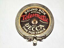 RARE VINTAGE SWISS DECCA PHONOGRAPH 78 RPM RECORD GRAMOPHONE REPRODUCER SOUNDBOX