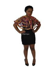 AFRICAN ANKARA PRINT WEAVED CAPE