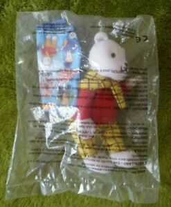 rupert bear  2001 mcdonalds happy meal soft toy in package