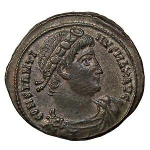 Constantine I The Great Silvered Bronze Follis Alexandria Ancient Roman Coin