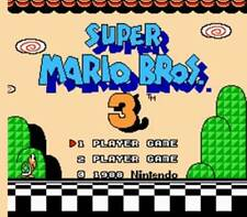 Super Mario Brothers 3 - NES Nintendo Game Bros III