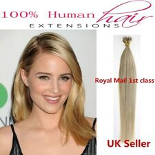"Best Quality 22"" 1g 7A Nano Ring Double Drawn Remy Human Hair Extensions UK 1st"