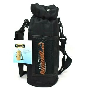 Primeware Wine Tote Bag Black Quilted Insulated with Corkscrew New
