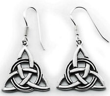 zauberhaft Ohrringe Ohrhänger Triquetta 925 Silber Charmed  Wicca Triquetra oh97