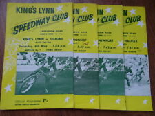 KINGS LYNN SPEEDWAY PROGRAMMES (x4) (1967) OXFORD HALIFAX NEWPORT WORLD CHAMPS