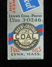 1940s Hoslate Coal Reed and Costolo Coal Coke Fuel Oils Lynn MA Essex Co MB
