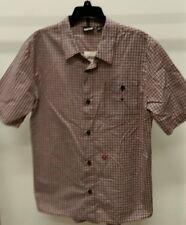 NWT Vans Boys' Multi-Color Plaid Check Cotton Short Sleeve Casual Shirt Size: XL