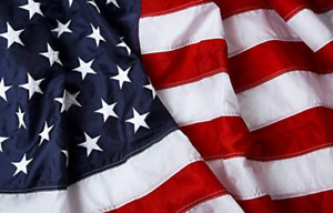 American Flag Nylon with Embroidered Stars Brass Grommets (3X2,3X5,4X6,5X8 )ft