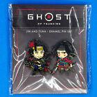 Ghost of Tsushima Director's Cut Jin Sakai & Yuna Enamel Figure Pin Set