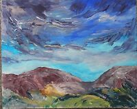 original contemporary landscape painting on canvas FREE POSTAGE