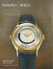 SOTHEBY'S HK WATCHES Breguet Chopard Patek Piaget Piguet Rolex Catalog 2015
