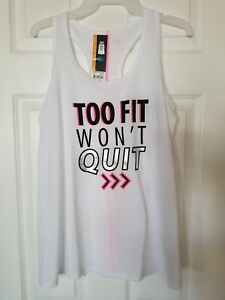 """Action Workout  """"Too Fit To Quit""""  Tank SZ Medium 8-10"""