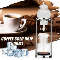 AU Gold/Silver Dutch Coffee Cold Drip Water Dripper Coffee Maker Serve For 600ML