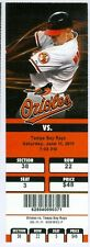 2011 Orioles vs Tampa Bay Rays Ticket: Ben Zobrist & Casey Kotchman 4 Hits