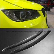 for BMW E92 E93 M3 06-12 2pcs Carbon Fiber Headlight Eyebrows Eyelids Cover Trim