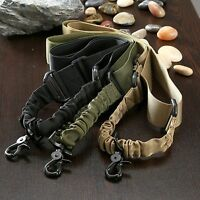 Single Point Adjustable Bungee Hook Sling Strap Outdoor Hunting Rifle Use Tool