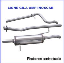 LIGNE ECHAPPEMENT GROUPE A OMP PEUGEOT 208 1,6 GTI 200ch EN INOX