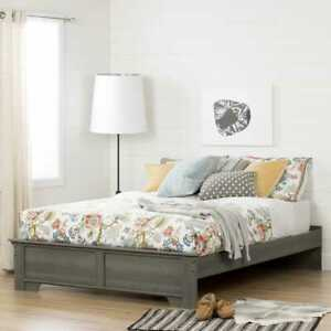 South Shore Furniture Versa  Platform Bed Queen Gray Maple