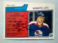 1983-84 OPC Goal Leaders #377 Dale Hawerchuk AUTOGRAPED CARD (NRMT CONDITION)