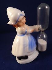 Ancien sablier figurine enfant porcelaine paysanne servante Germany DRGM 1930
