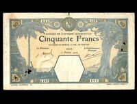 French West Africa 50 Francs 1926  P-9Bb