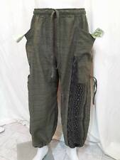 HIPPIE PANTS Islamic TROUSERS BAGGY ROPE BOHO tribal Egypt print mens pantalon