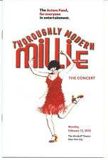 THOROUGHLY MODERN MILLIE Playbill 1-night Only SUTTON FOSTER GAVIN CREEL