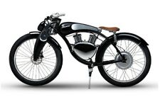 Black Electric Full Suspension Cruiser Vintage City Fat tire smart bike