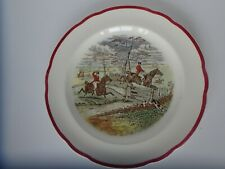 """Vintage Copeland Spode England """" Off to Draw"""" Dinner Plate 10.5 """"J.F Herring."""