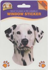 NEW Dalmatian Dog Self Cling Re-usable Window Sticker