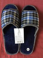 Nuevo Mens Comfort Slip On Casa Zapatillas Zapatos Talla Uk 10 Azul Marino