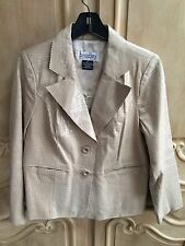 Bradley Bayou Patent Leather Jacket Reptile Embossed Print Cream Size Medium