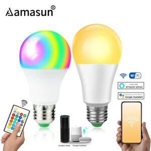85-265V E27 LED Lamp RGB 15W Wifi APP Control Bulb 10W RGBW