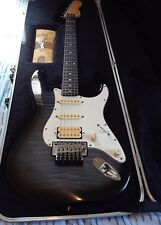 Fender Squier Series Stratocaster w/Foto Flame Finish - OHSC - Floyd Rose - MIJ