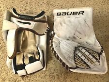 PRO STOCK - BAUER SUPREME BLOCKER AND GLOVE SET - VANACEK - PRE-OWNED