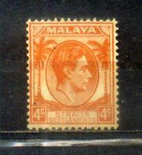 1937 Malaya Malaysia Straits Settlements 4c Mint Hinged CV 50