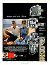 1956 Keystone PRINT AD Movie Camera K-51, K-56, A-15