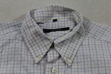 E7381 Eterna Excellent Businesshemd Langarm 40 Blau Weiß kariert Neuwertig