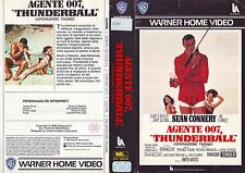 007 THUNDERBALL OPERAZIONE TUONO (1965) VHS ORIGINALE 1ª EDIZIONE 1985