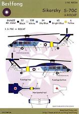Bestfong Decals 1/48 SIKORSKY S-70C BLACK HAWK Republic of China Navy