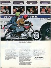 1974 Kawasaki KZ400 398cc Electric Start Motorcycle More Smiles Per Gallon Ad