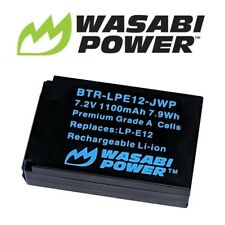 Wasabi Power Battery for Canon LP-E12 and Canon EOS M, M10, 100D, EOS Rebel SL1