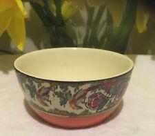 More details for antique vintage orange pottery pot dish c1920-30