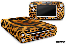 Skin Decal Wrap for Nintendo Wii U Gaming Console & Controller Sticker LEOPARD