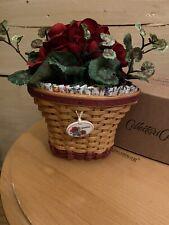 Longaberger 2006 Miniature Geranium Basket Set- Signed