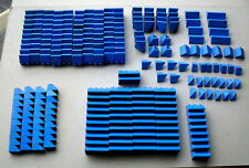 LEGO :  LOT DE 253 TUILES BLEUES 45°