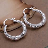 ASAMO Damen Ohrringe kleine Creolen 925 Sterling Silber plattiert O1139