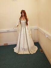 Vestido de Novia bosque De Marfil Vestido, Medieval, vestido de hombro frío