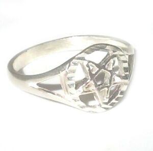New 925 Sterling Silver Pentagram Ring